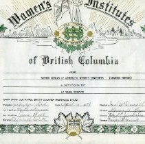Image of Certificate - Atchelitz Women's Institute certificate Esther Gorham