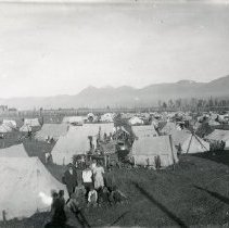 Image of Print, Photographic - Campsite beside hops field