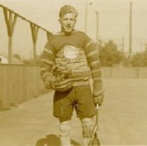 Image of Print, Photographic - Mustang Lacrosse Player Bud Hatch