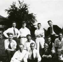 Image of Print, Photographic - Group photo of eleven men