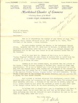 Image of C. of C. Letter protesting closing of freight service