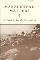 """Image of Booklet titled """"Marblehead Matters"""""""