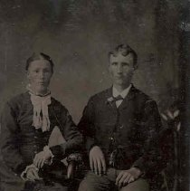 Image of Unidentified young man and woman, ca.1865.