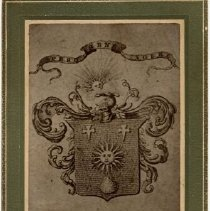 Image of A1938.1 - Family crest of William Gilchrist, Puslinch, ca.1900.