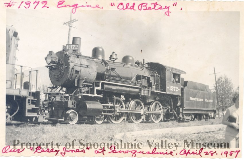 PO 014 0056 - Engine Old Betsy at Snoqualmie  Casey Jones