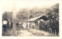 "Image of PO.015.0244 - Camp Vinnedge by ""speeder""; Goldmeyer Hot Springs area. 1933.  