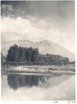 Image of PO.011.0050 - Weyerhaeuser trestle through flood plain with Mt Si- Cress-Dale Photo