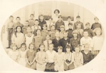Image of PO.015.0084 - Fall City Grade School Class.  Helen Pebbles McKibben teacher.