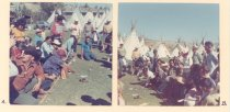 Image of PO.015.0059 - People playing bone game at Omak Stampede.