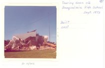 Image of PO.015.1006 - Snoqualmie High School building being torn down.