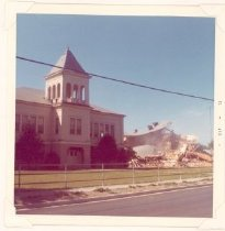 Image of PO.015.1007 - Snoqualmie High School building being torn down.