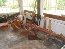 Image of 963.001 - Horse drawn plow used at Olaf Hanson Family Farm in 1930s.  Family farm was located in Upper Preston at 10919 Upper Preston Rd SE.