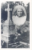 Image of PO.015.0047 - Chief Sealth. Lindsley #5204. Chief Seattle and his grave.