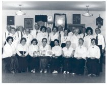 Image of PO.991.0013 - Snoqualmie IOOF Rebekah's in Hall.  Left front row: Joyce Littlejohn. 2nd row, second from left. Thurza Todd.