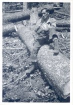 Image of PO.989.0007 - He was #1 with me, 1922. Possibly Pacific States Lumber Co logging at Cedar Lake.