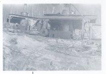 Image of PO.989.0008 - Cedar Lake, 1926. Pacific States Lumber Co logging at Cedar Lake. Rafts on the lake.