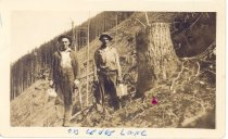 Image of PO.989.0011 - And Rough Ground. Pacific States Lumber Co logging at Cedar Lake.