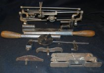 Image of 044.203 - a-i. Handsaw sharping tools used by Perry Burns.