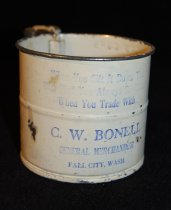 Image of 121.094 - Flour sifter from Bonell Store, Fall City.