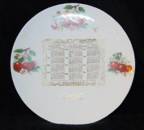 Image of 951.791 - Reinig Brothers Store Calendar plate, 1909.