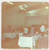 Image of PO.015.0291.c - Antique Show and Sale to benefit Museum held in North Bend Grade School Gym presented by Dick Mattila and his wife.