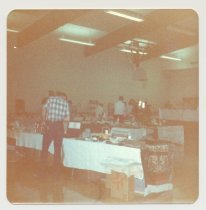 Image of PO.015.0291.f - Antique Show and Sale to benefit Museum held in North Bend Grade School Gym presented by Dick Mattila and his wife.