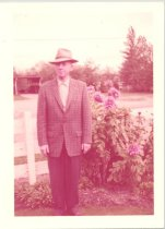 Image of PO.986.0052 - WW Brown in garden.
