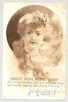 Image of 033.081.g. Jl Larkin Co Sweet Home Family Soap Ad Card.0001