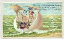 Image of 033.081.d. Pure Conoanut Soap. Ga Shoudy Ad Card.0001