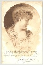 Image of 033.081.f. Jl Larkin Co Sweet Home Family Soap Ad Card.0001