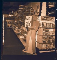 Image of 960.1981.12.28.01.02 - Police cutout figure in store.