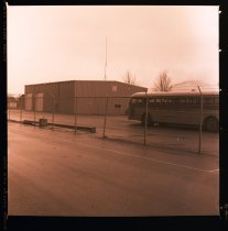 Image of 960.1981.12.28.01.09 - Lower Snoqualmie Valley School bus barn.