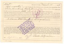 Image of 1031.003 - Claude Northern's three shares in State Bank of Snoqualmie.