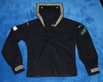 Image of 040.2077 - Black wool naval uniform top belonged to Mr. Whalen.