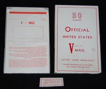 Image of 040.1139 - Box with 31 unused Victory Mail letters.    