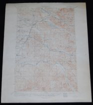 """Image of 030.152 - Map: Cedar Lake Quadrangle, Topographic map, Surveyed in 1910-1911. Topography lines in brown, lakes in blue. Geological survey. Cedar Lake, South Fork Snoqualmie River, Sallal Prairie, Edgewick, Tanner, Cedar Falls, Cedar River, Green River, Northern pacific Railroad, Milwaukie Railroad, North Bend, Franklin, Kanaskat, Barneston, Selleck, King County- Pierce Co. Boundary Line. 17 x 20.75"""" long. Cream color paper, brown lines."""