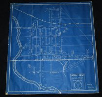 Image of 075.386. Blueprint Of North Bend, 1938 (1)