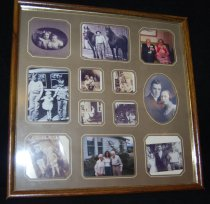Image of 944.006 - Frame containing Terhune family photos.