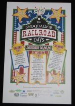 Image of 956.003 - Snoqualmie Railroad Days poster.