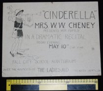 Image of 015.120. Mrs. Cheney's Music Students Cinderalla Program Poster. 1929 (2)