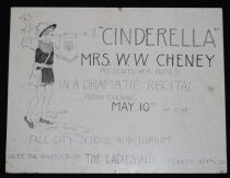 Image of 015.120.2 - Cinderella Program Poster for Mrs. Edna Cheney's music class.