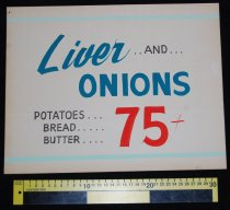 Image of 015.121. Liver And Onions Poster (2)