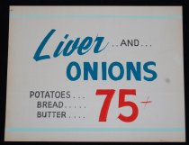 Image of 015.121. Liver And Onions Poster (1)