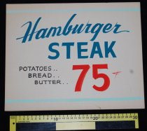 Image of 015.122. Hamburger And Steak Poster (2)