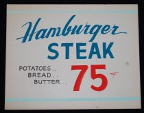 Image of 015.122. Hamburger And Steak Poster (1)