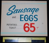 Image of 015.123. Sausage And Egg Poster (2)