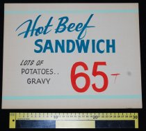 Image of 015.124. Hot Beef Sandwich Poster (2)