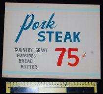 Image of 015.125. Pork Steak Poster (2)