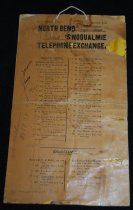 Image of 033.003. North Bend And Snoqualmie Telephone Exchange List (1)