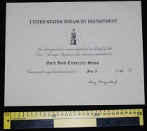 Image of 231.004. North Bend Elementarry School War Savings Bond Program Award, 1943